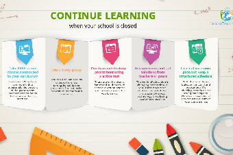 Continue learning when your school is closed infographics